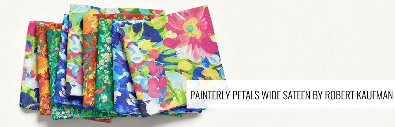 Painterly Petals Wide Sateen