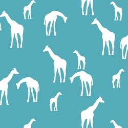 Giraffe Silhouette in Lagoon