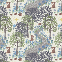 Bluebell Wood in Cream