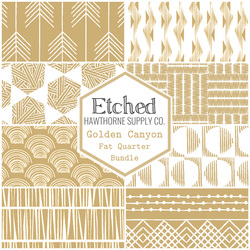 Etched Fat Quarter Bundle in Golden Canyon