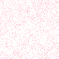Paperie in Rose Pink on White