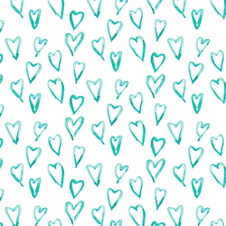 Hearts a Mess in Teal Crush