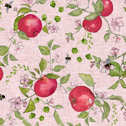 Apple Pie in Sweet Pink Linen