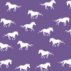 Horse Silhouette in Ultra Violet