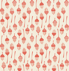 Acorn in Coral Unbleached