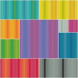 Kaleidoscope Stripes Fat Quarter Bundle