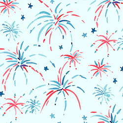 Large Fireworks in Air Blue