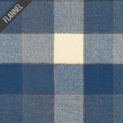 Mammoth Square Plaid Flannel in Denim