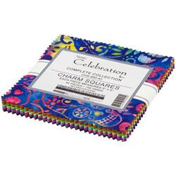 """Celebration Artisan Batiks 5"""" Square Pack"""