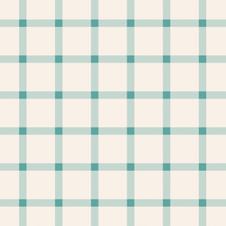 Large Boho Gingham in Aqua Ocean