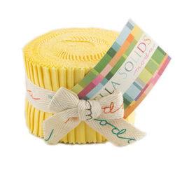 Bella Solids Junior Jelly Roll in 30's Yellow