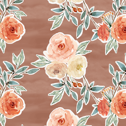 Ardent Floral in Hot Chocolate Wash