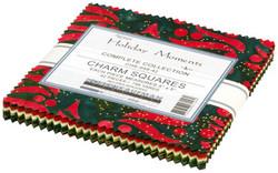 "Holiday Moments Artisan Batiks 5"" Square Pack"
