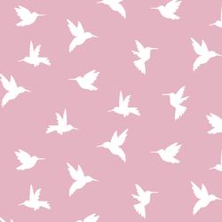Hummingbird Silhouette in Carnation