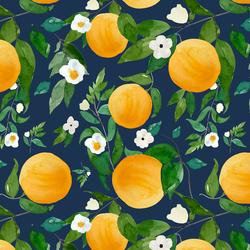 Large Oranges in Navy