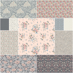 The Winterbourne Collection Fat Quarter Bundle in Whisper