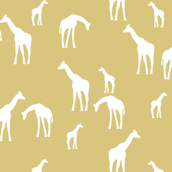 Giraffe Silhouette in Honey