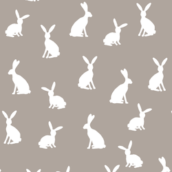 Cottontail Silhouette in Taupe