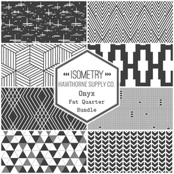 Isometry Fat Quarter Bundle in Onyx