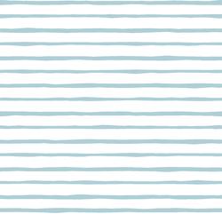 Artisan Stripe in Powder Blue on White