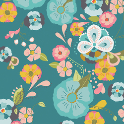 Floral Floats Voile in Fresh