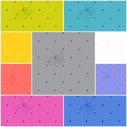 Sun Prints Fat Quarter Bundle in Diatom
