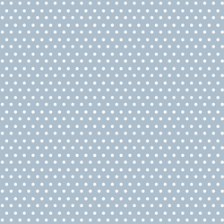 Winter Dot in White on Cashmere Blue