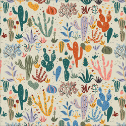 Cacti and Succulents in Buff