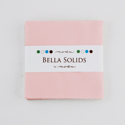 Bella Solids Charm Pack in Sisters Pink