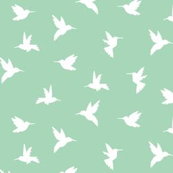 Hummingbird Silhouette in Seaglass