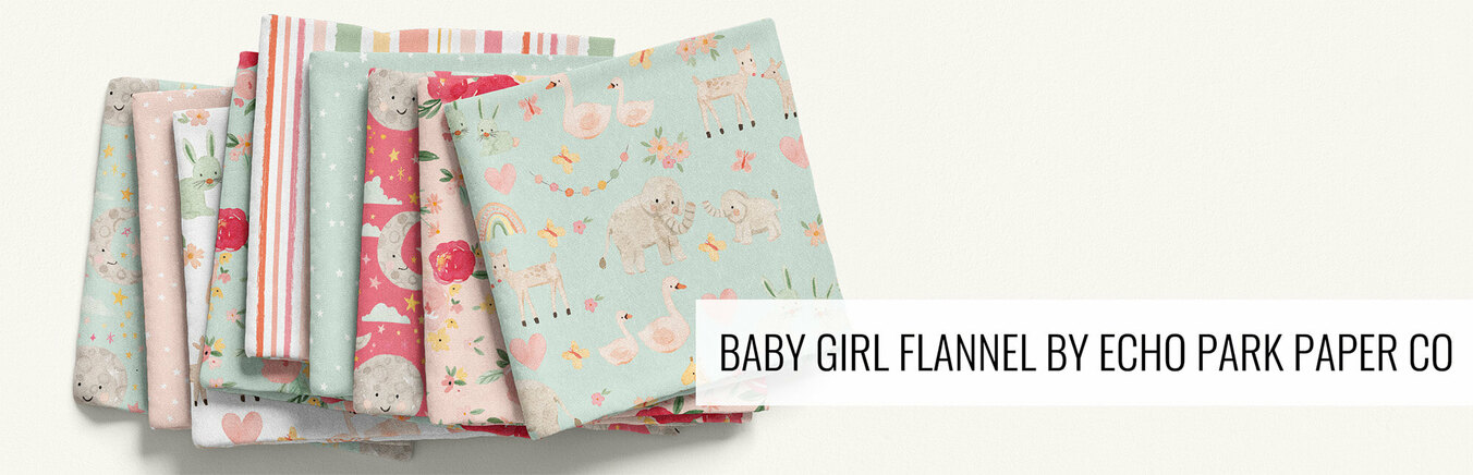 Baby Girl Flannel by Echo Park Paper Co