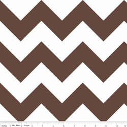 Large Chevron in Brown