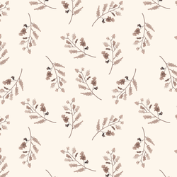 Woodland Branches in Soft Ivory