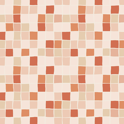 Mosaic Tiles in Summer Coral