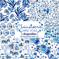Chinoiserie Fat Quarter Bundle Large Scale