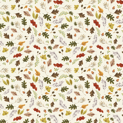 Little Leaves in Ivory