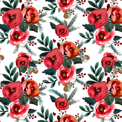 Holiday Rose in Scarlet