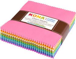 Kona Cotton Solids Charm Squares in Pastel 101