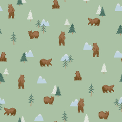 Grizzly Bears in Pistachio