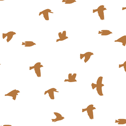 Flock Silhouette in Ginger on White