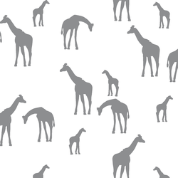 Giraffe Silhouette in Smoke on White