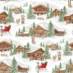Alpine Winter in White