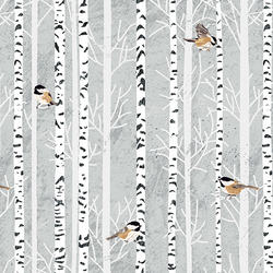Birches and Birds in Coal