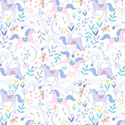 Unicorn Romp in White