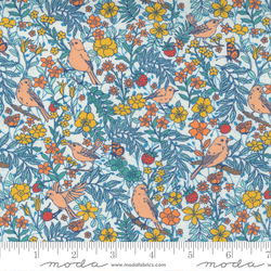 Birdie Toile Floral Birds in Multi