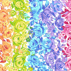 Rainbow Roses in White