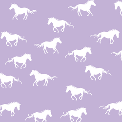 Horse Silhouette in Lilac