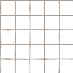 Windowpane in Taupe on White