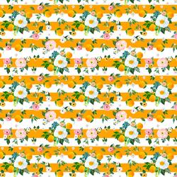 Small Orange Blossoms in Orange Stripes
