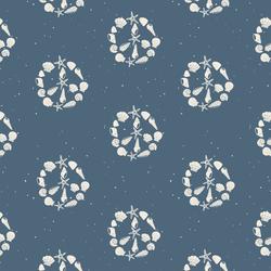 Peace Shells in Ocean Blue